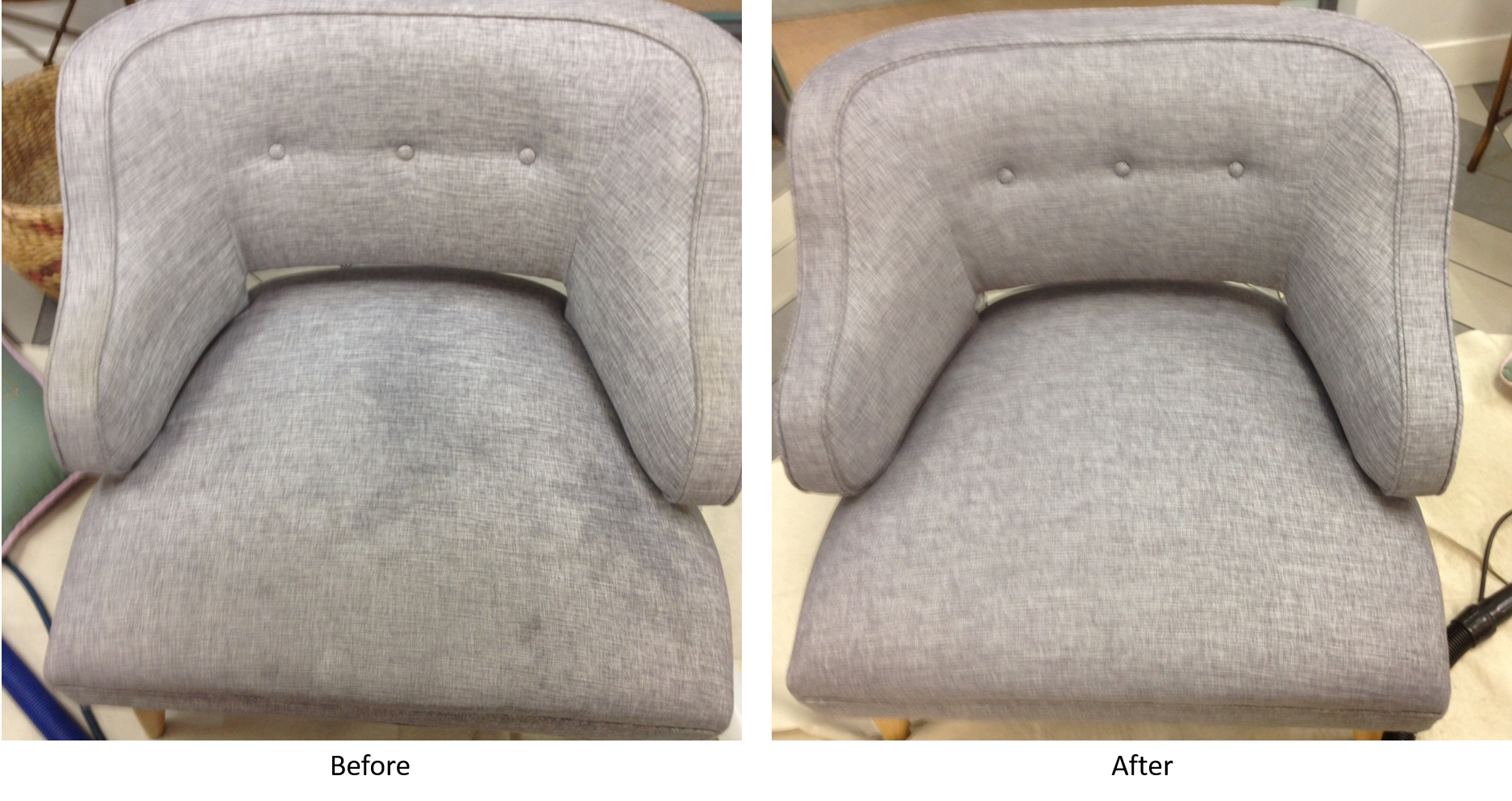 Before and After Grey Chair