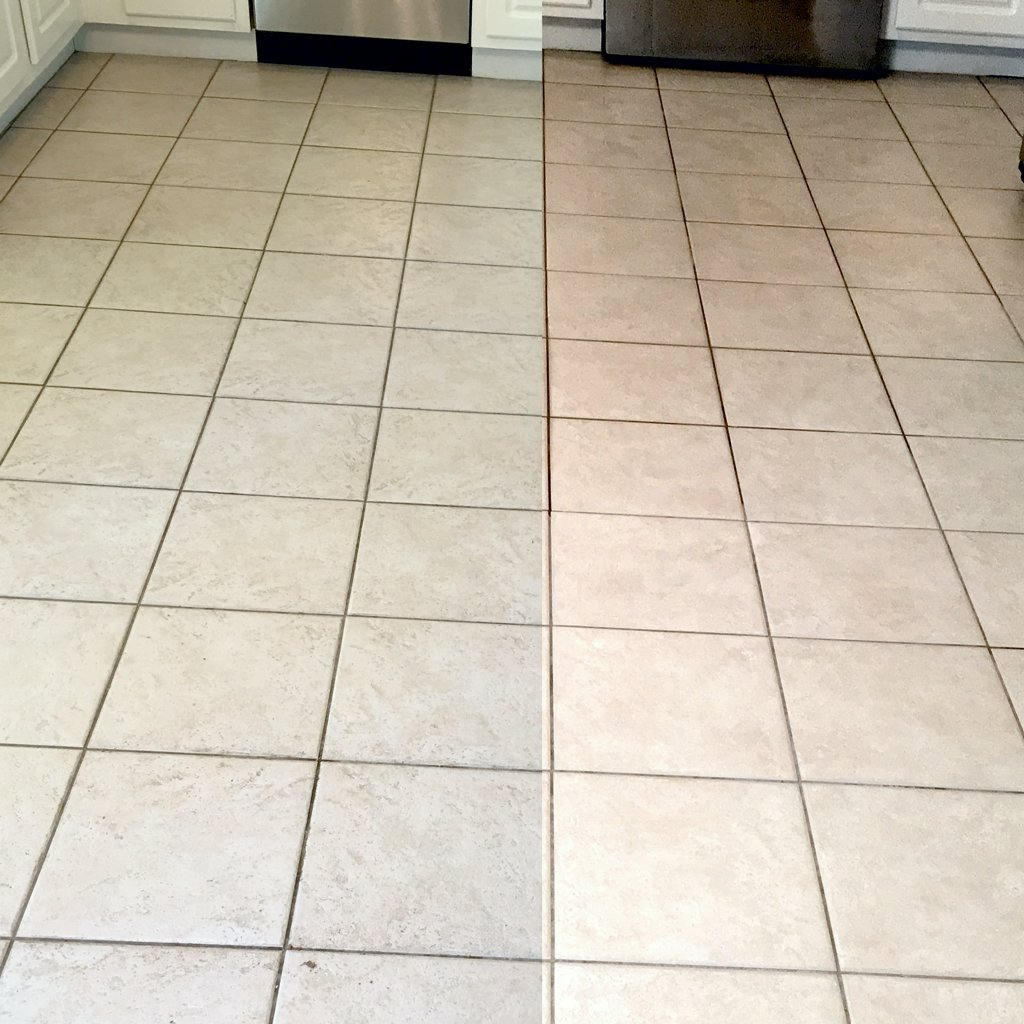 Tile Before and After Kitchen
