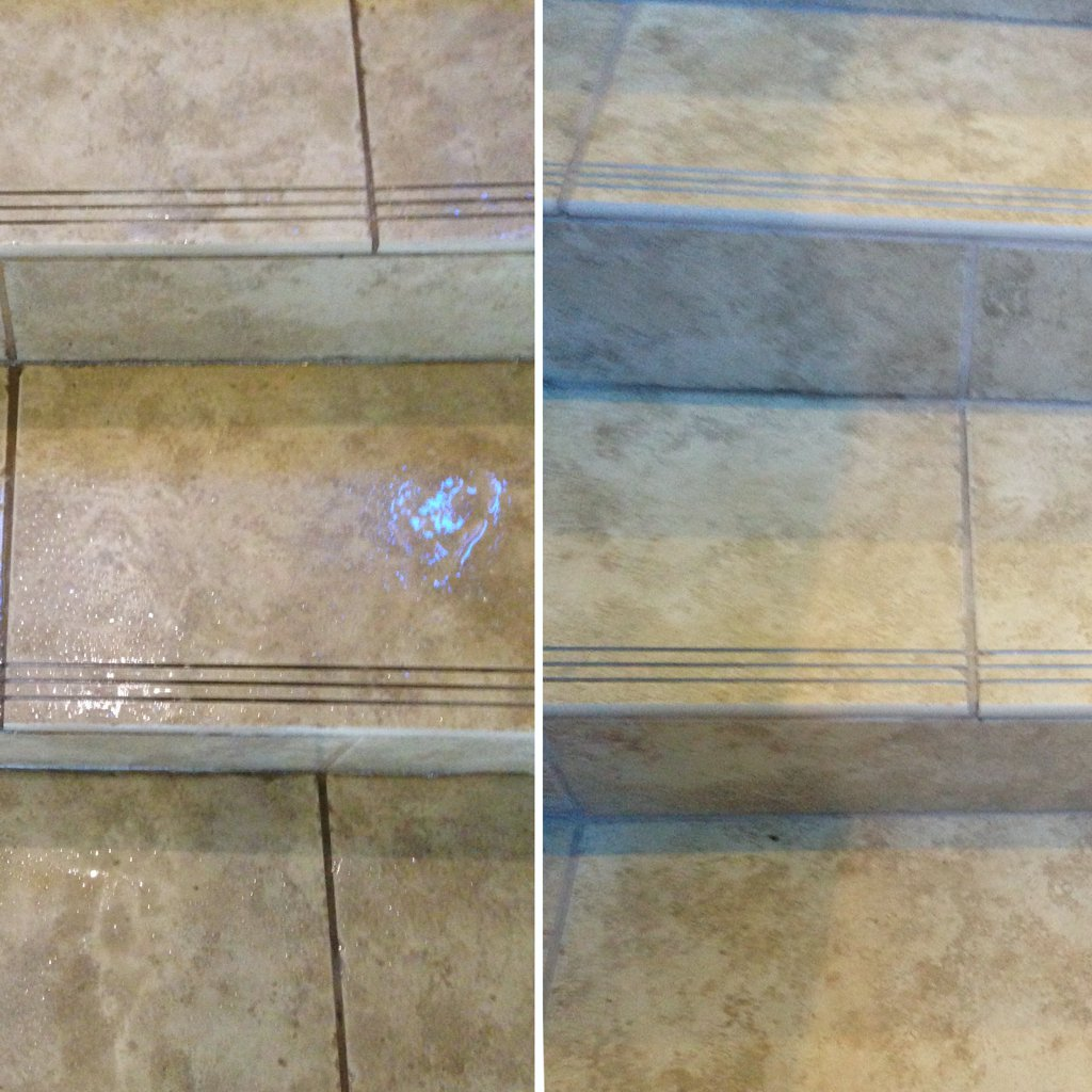 Tile Stairs Before and After